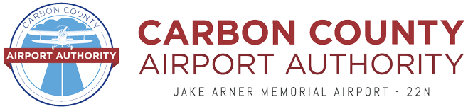 carbon county airplane authority head logo