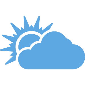 Cloud with sun icon