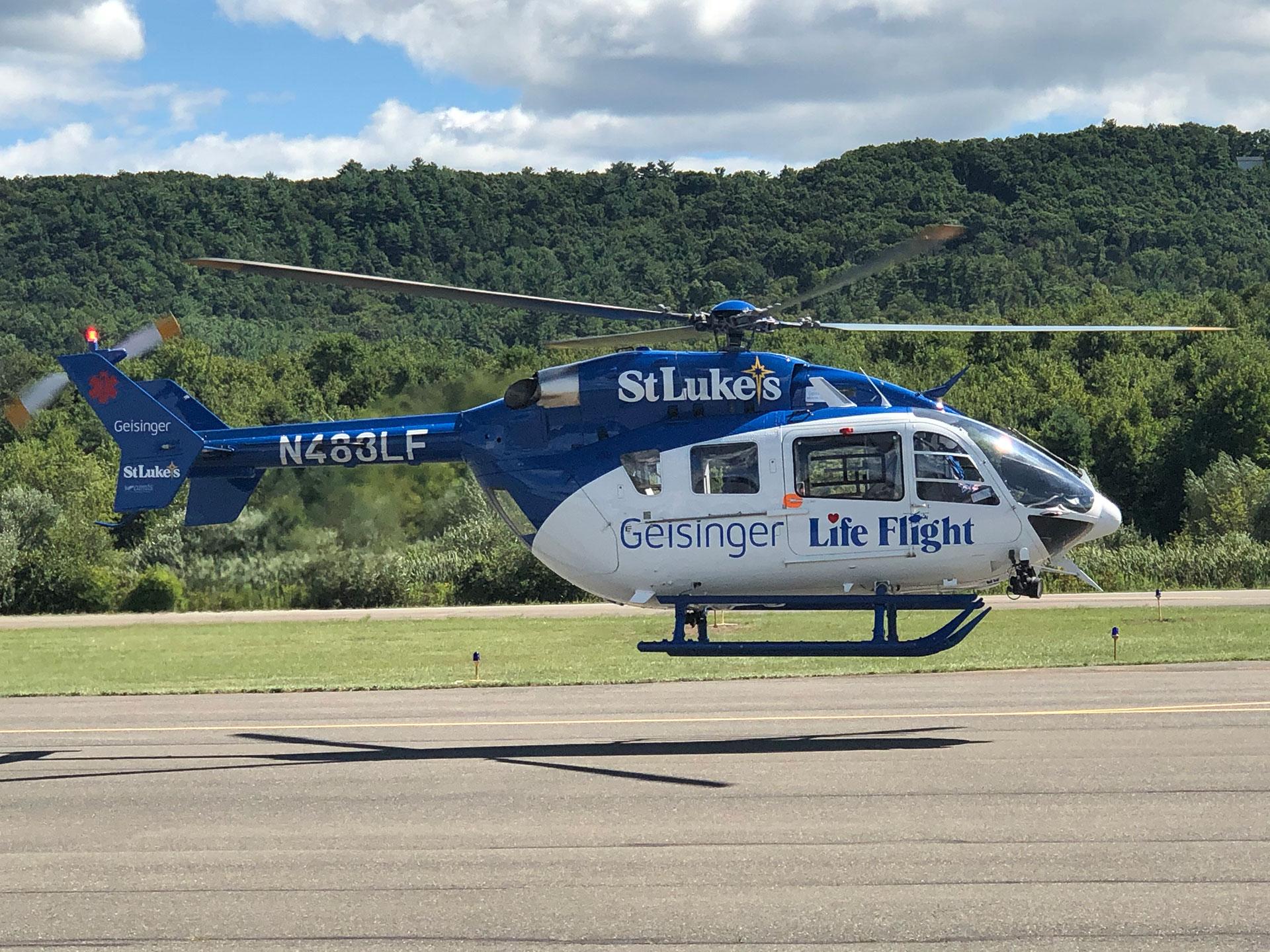 StLukes Helicopter